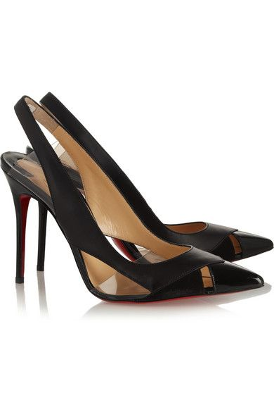 fa70e2d0fc44 CHRISTIAN LOUBOUTIN Air Chance 100 leather and suede slingback pumps Suede  Pumps
