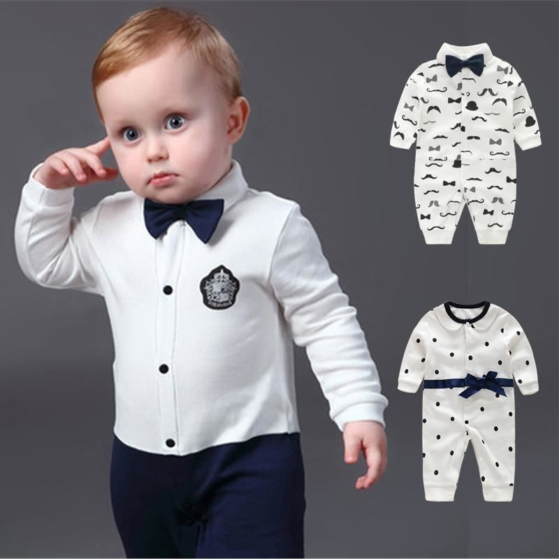 rompers 2pc  baby boys party wedding Tuxedo cotton summer birthday bodysuit