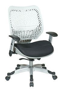 Office Star Unique Self Adjusting Ice SpaceFlex Back and Raven Mesh Seat Managers Chair 86-M32C625R