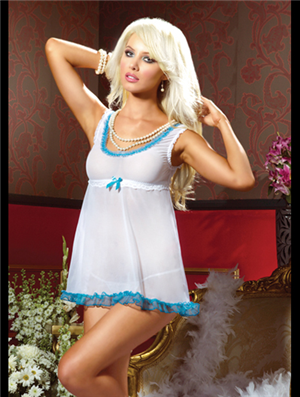 506495bc98 Wild West Romance Babydoll   Thong (Reg Plus Size) - For a perfect western  night right out of the romantic novels