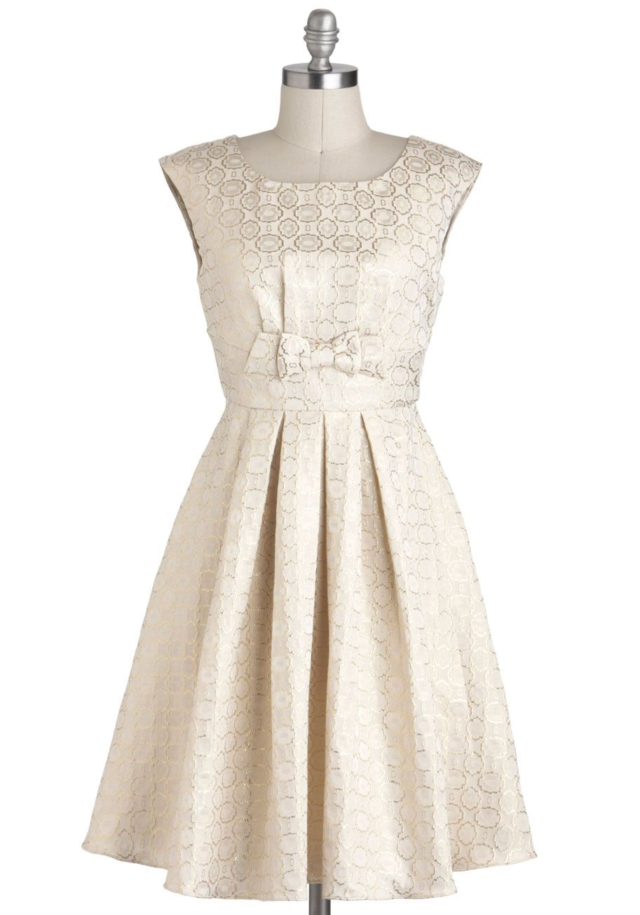 Chelseyus modstyle for miles dress midlength cream print bows