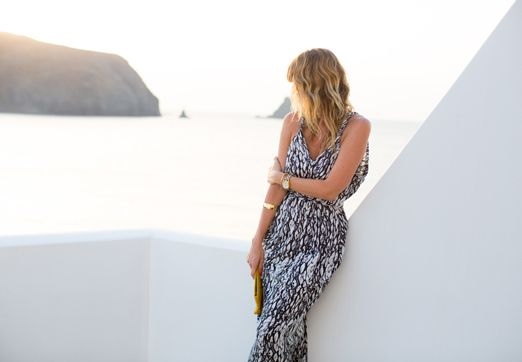t-bags maxi dress - a house in the hills