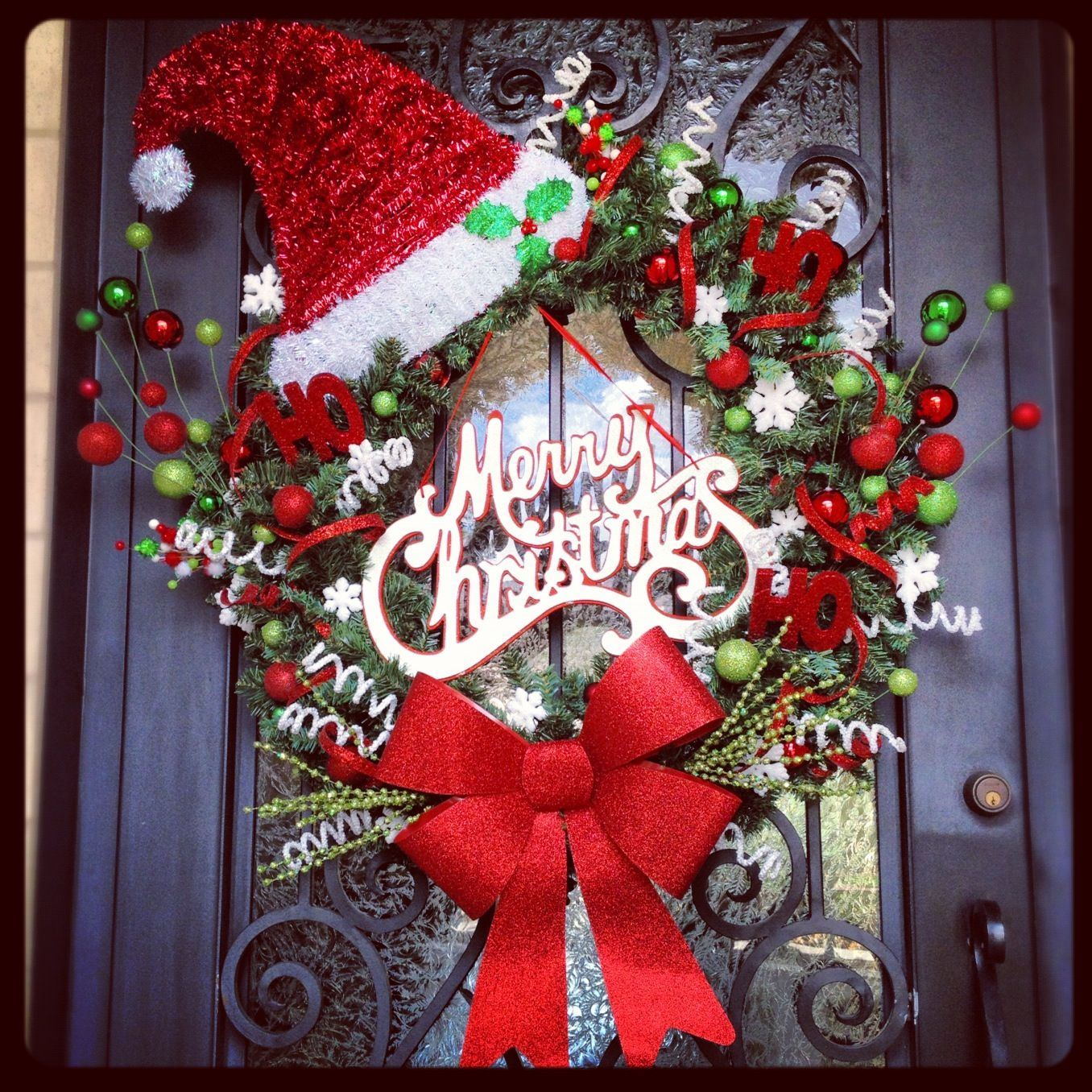 Homemade christmas decorations holiday pinterest Christmas wreath decorations