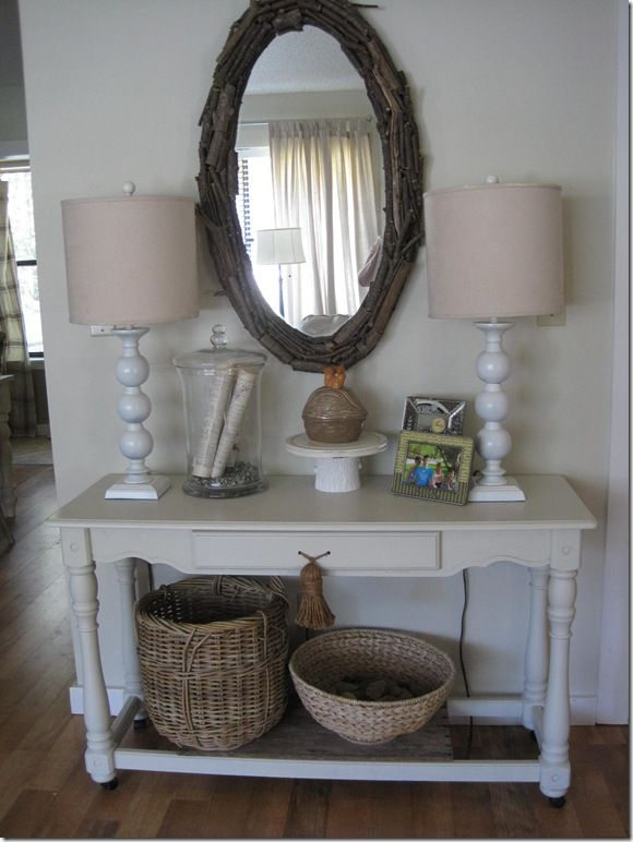 entry way- maybe get wire baskets for lower shelf and put ...