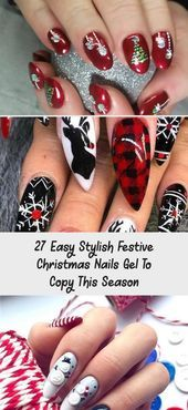 27 Easy Stylish Festive Christmas Nails Gel zum Kopieren dieser Saison  MAKEUP#fashionmodel #fashiondaily #fashionbags #fashionicon #fashionpria #weddingvenue #weddingrings #weddingshoes #weddingbandung #weddingvibes #nailtechnician #interiordesignideas #floraldesign