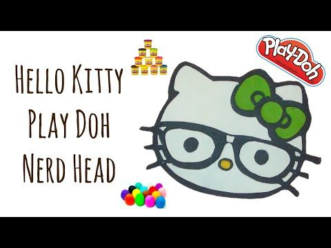 How to make a Hello Kitty nerd face out of Play doh - YouTube ...