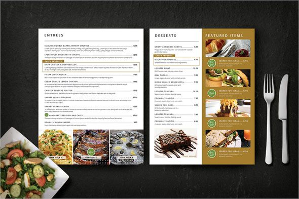 Best Menu Card Templates Free Sample Examples