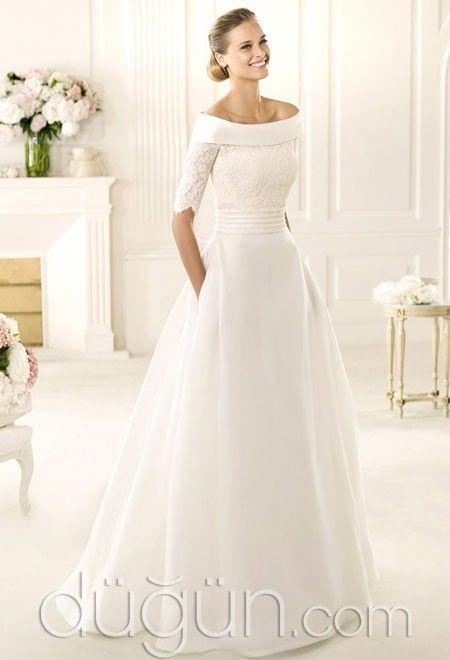 0dcecb63b0ce3 A Kesim Gelinlik Modeli @duguncom | wedding | Gelinlik, Bohem ...