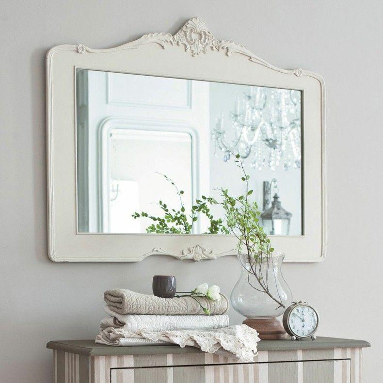 Espejos Para Cuarto De Baño | Espejos Para Banos Blanco Estilo Retro Interiores Para Banos