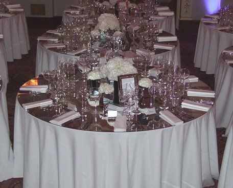 round mirror table topper Mirror Banqueting Tables 5ft or 6ft for