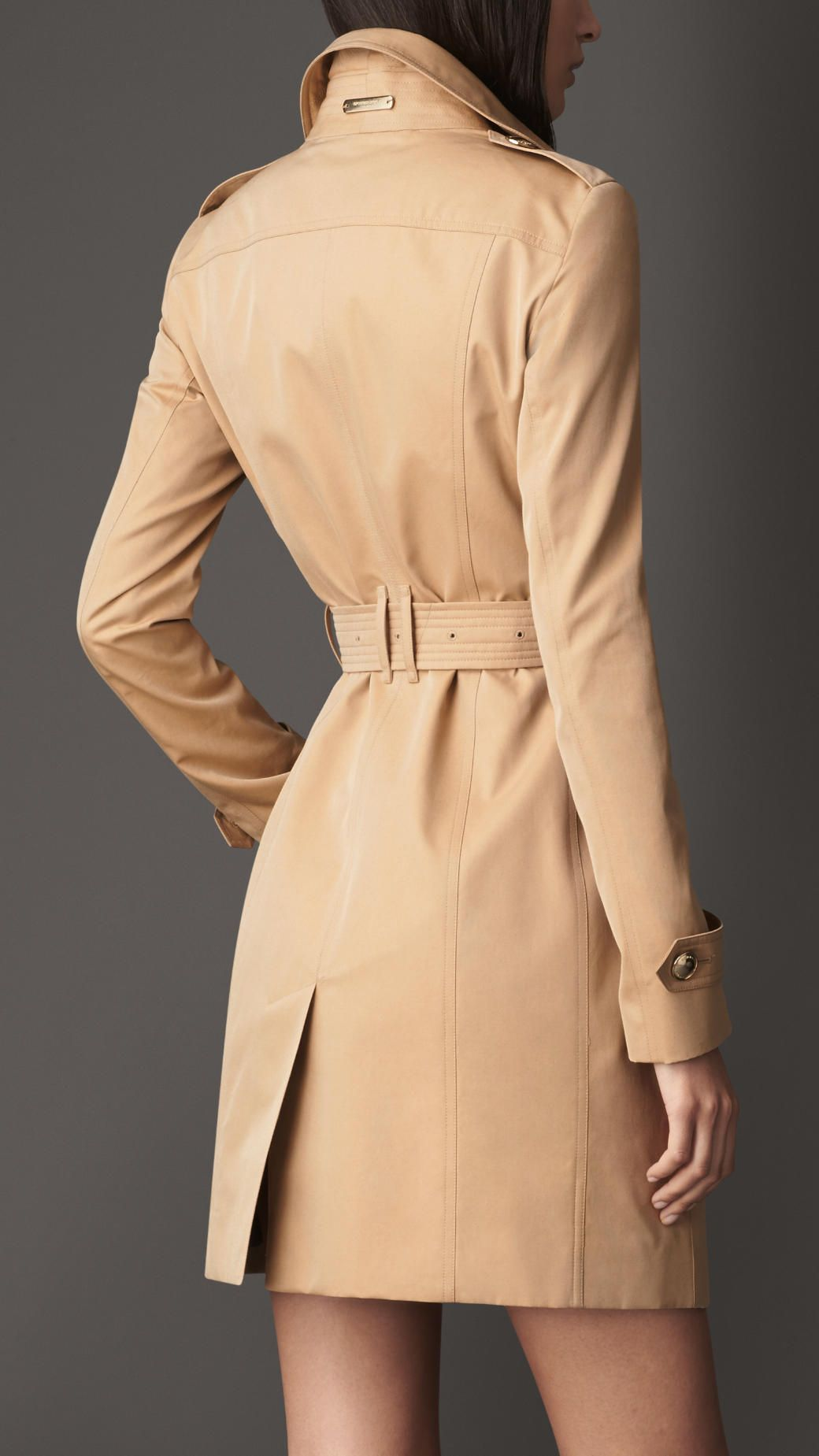Long cotton gabardine trench coat burberry clothes pinterest