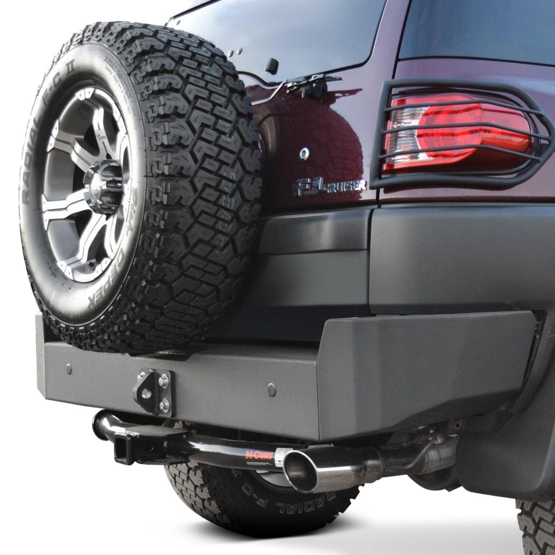 Body Armor 4x4® Full Width Black Rear HD Bumper Fj