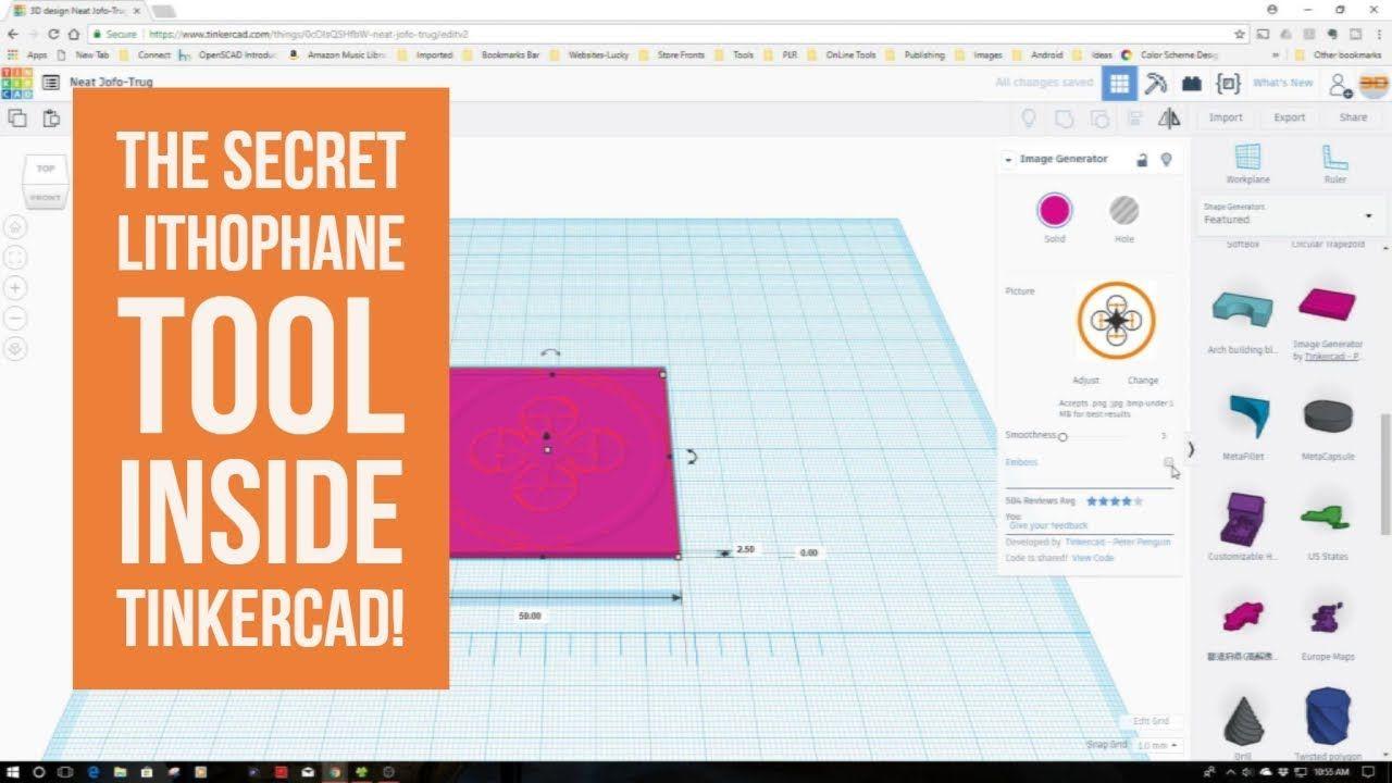 TinkerCad Tip - The Secret Lithophane Tool Inside TinkerCad! | 3D