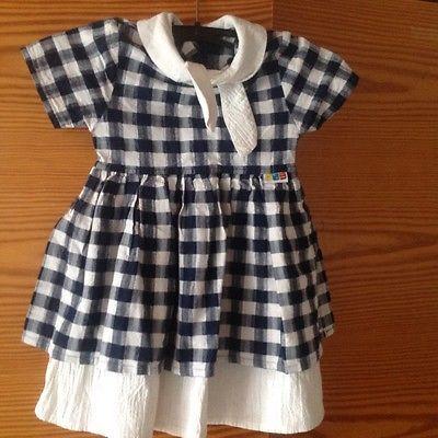 Kleid Sommer Liegelind Gr 86 Baby Puppe Kuenstlerpuppe Blau Weiss