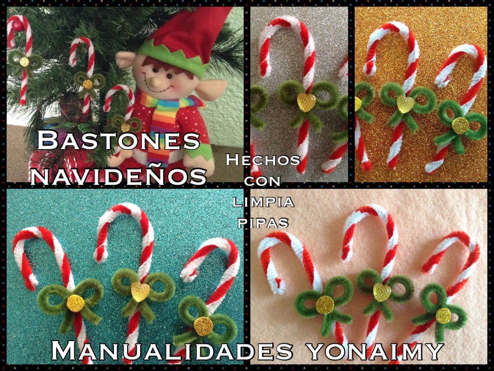 4df76e736 BASTON NAVIDEÑO HECHO CON LIMPIA PIPAS . | VIDEOS | Baston navideño ...