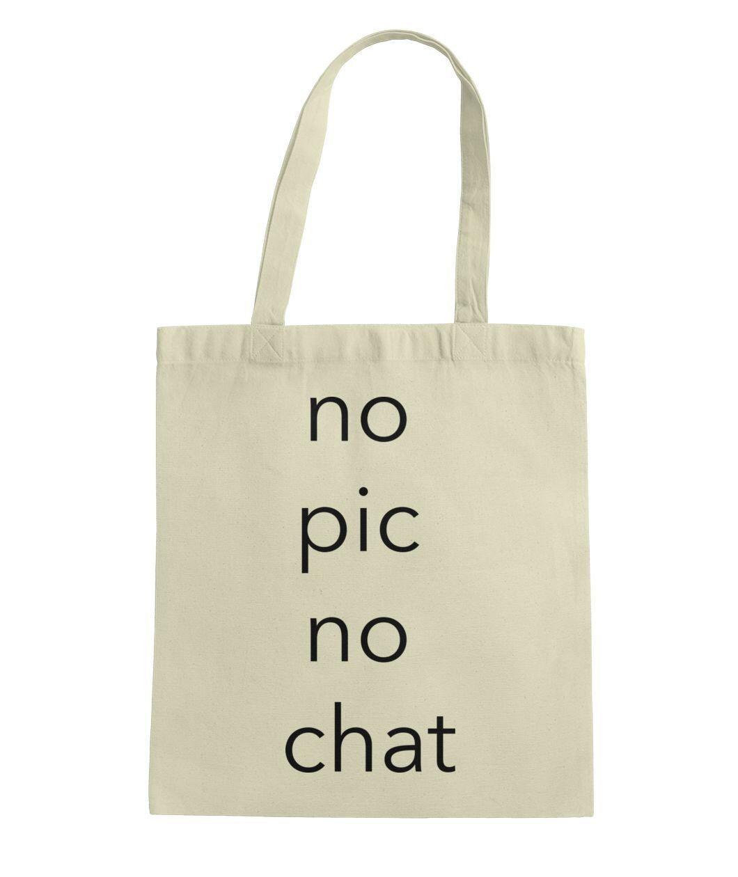 4daa74996b61 No pic no chat tote tote bag. Shop totes at vivodclothing.com   vivodclothing  gay  lgbt