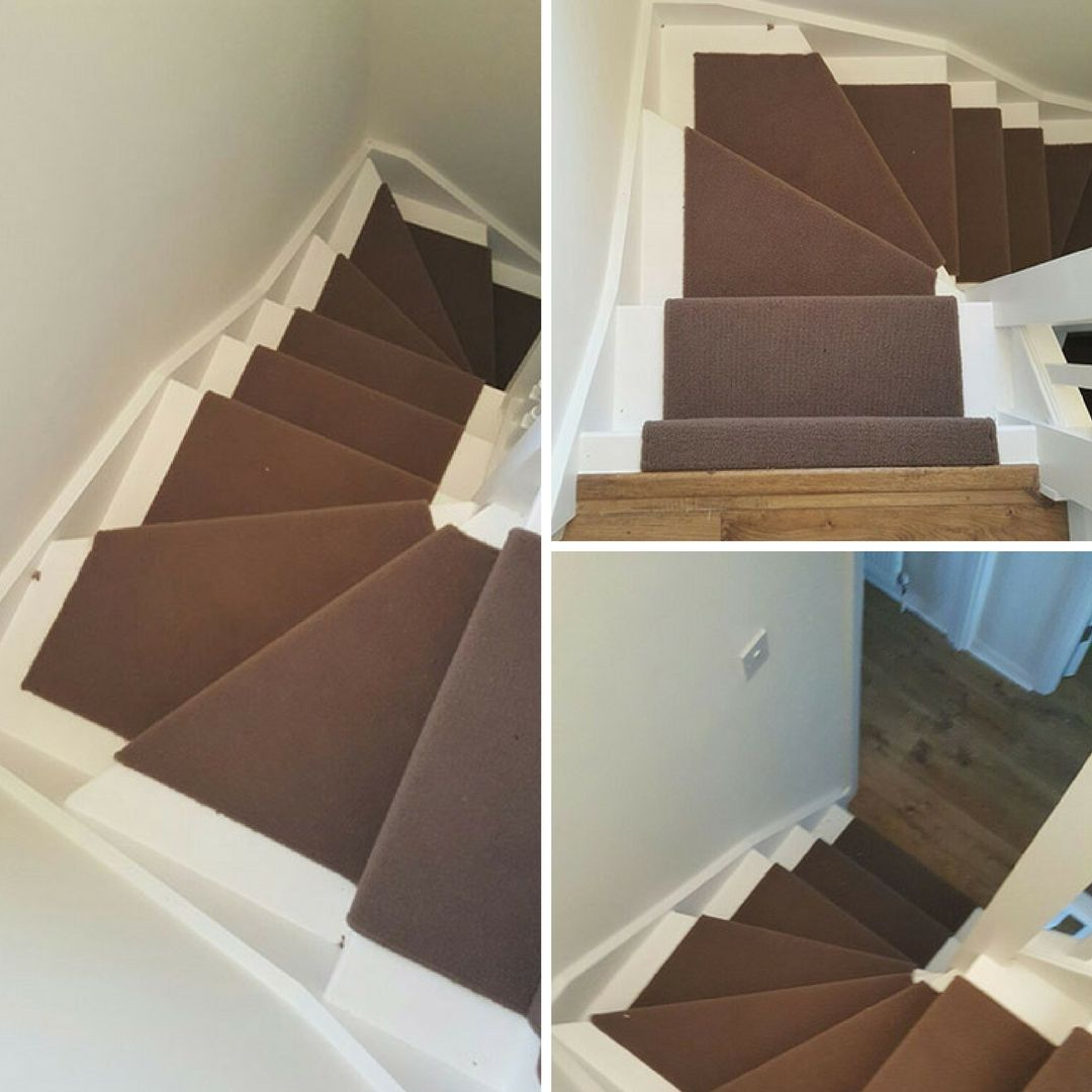 Best Installing Brown Whipped Carpet To Stairs As A Runner 400 x 300