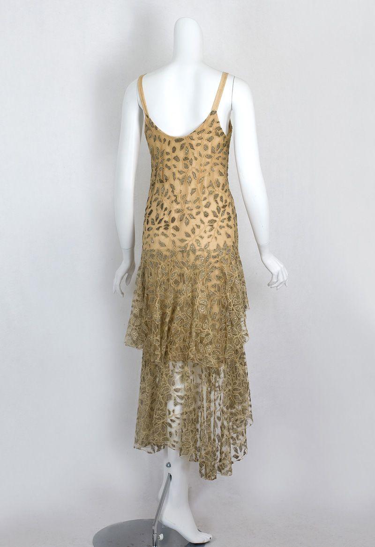 S clothing at vintage textile lace flapper dress