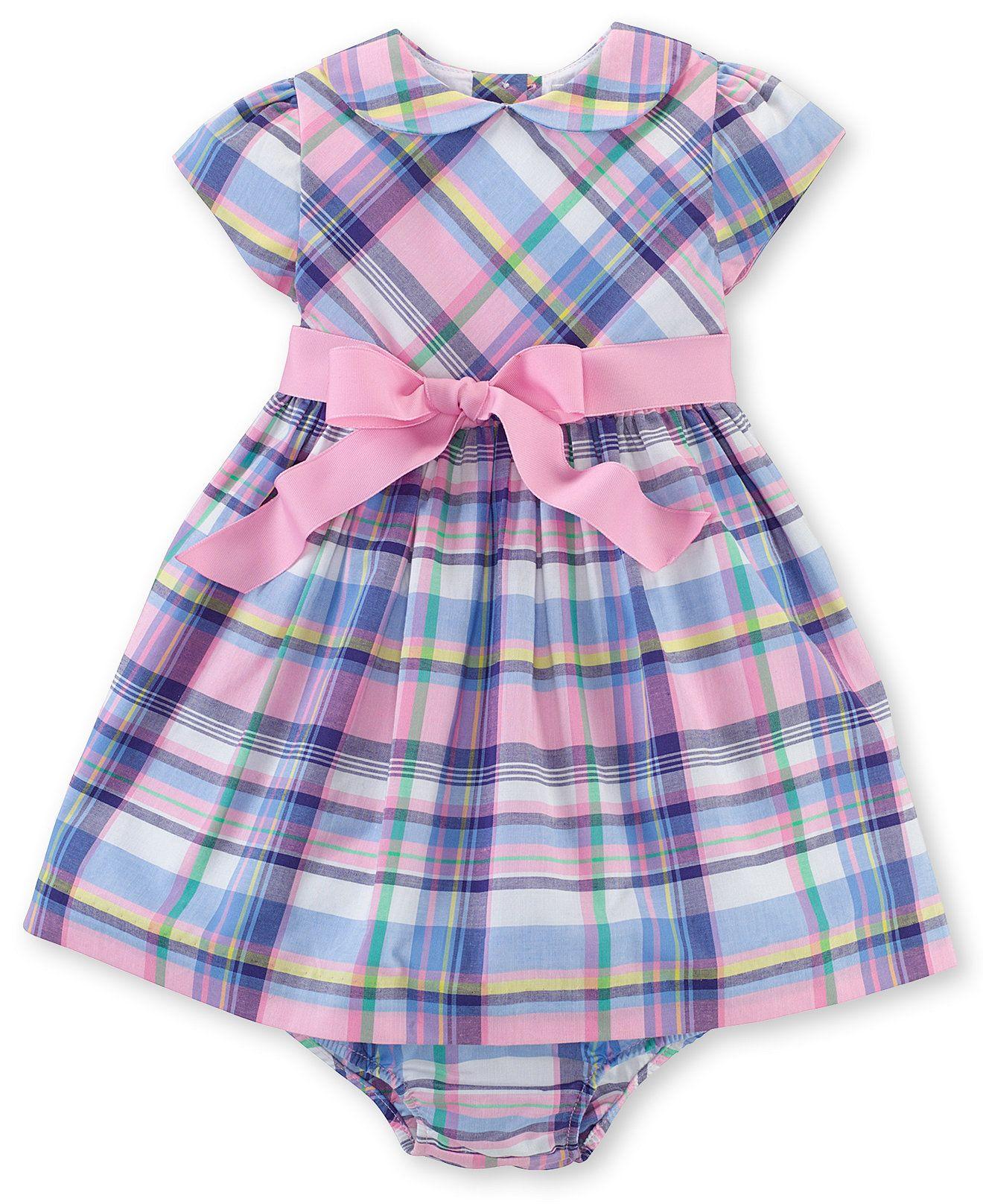8acc1c84a6 Ralph Lauren Baby Girls' Belted Madras Dress - Kids Baby Girl (0-24 ...