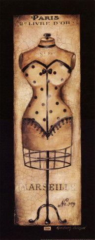 $9.99 - mannequin dress form poster