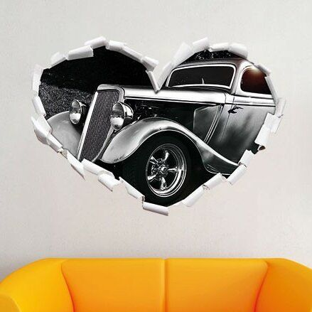 East Urban Home Luxury Classic Car Wall Sticker   Wayfair.co.uk