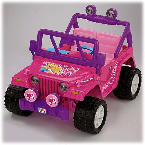 Fisher Price Barbie Jeep 12 V 2 Speed 2 5 5 Mph With Parental Override For High Speed Product Photo For Reference On The Pink Jeep Power Wheels Toys