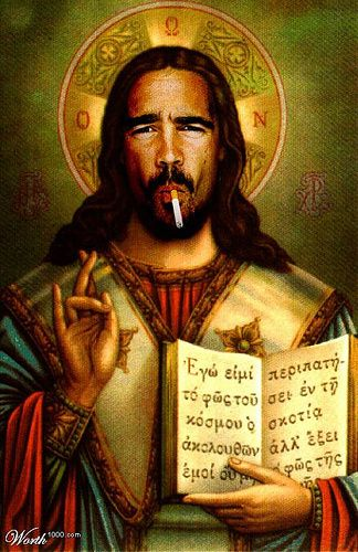 jesus having a smoke