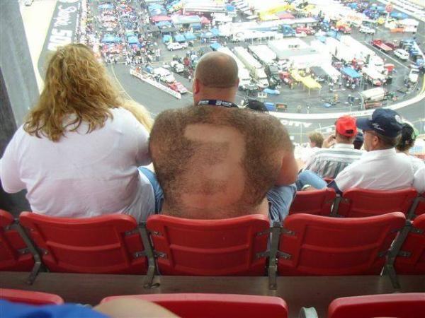 Earnhardt shaved back pic