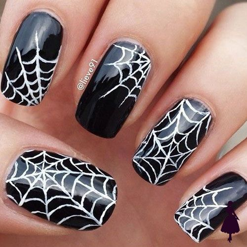 Telaranas Unas Unas De Halloween Manicura Halloween Y Una Decoradas