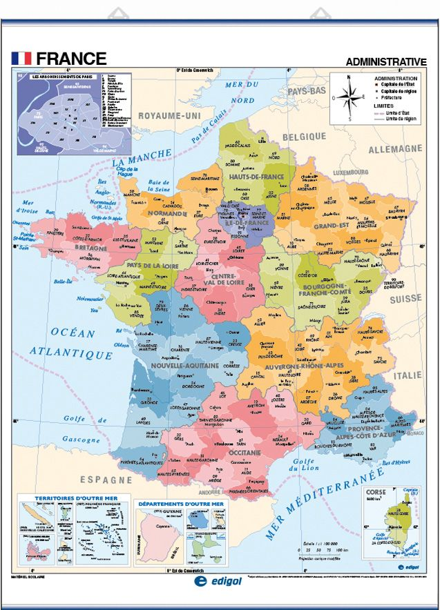 Updated The French map of France now reflects the New Territory