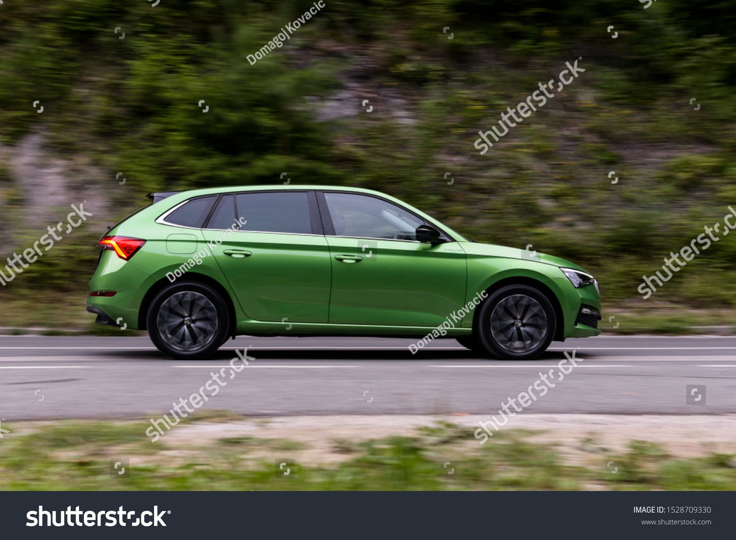 Zagreb Croatia July 12 2019 New Koda Scala In Green Colour Out On The Streets Brand New Model From Kod Ad In 2020 Zagreb Croatia Zagreb Graphic Design Trends