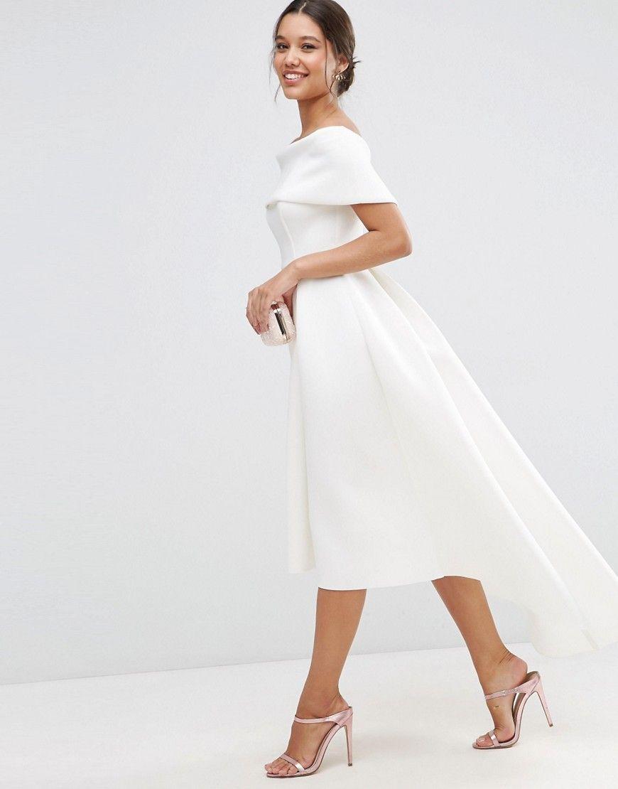 666da7e1ee004 ASOS Off The Shoulder Bardot Scuba Dip Back Maxi Dress Midi Dress Outfit