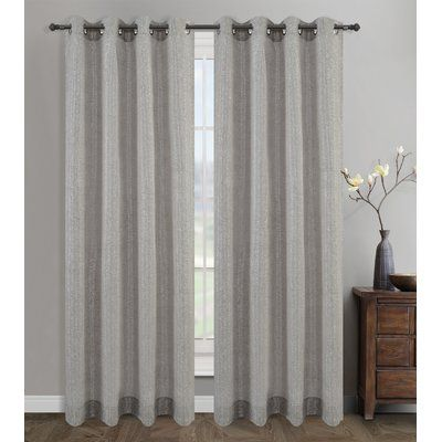 Highland Dunes Ceres Solid Semi Sheer Grommet Curtain