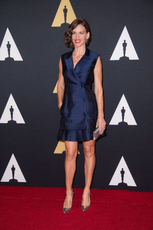 Hillary Swank attends the 6th Annual Governors Awards in The Ray Dolby Ballroom   See more photos here: http://www.redcarpetreporttv.com/2014/11/10/its-official-awards-season-has-started-the-academys-2014-governors-awards-honors-harry-belafonte-maureen-ohara-hayao-miyazaki-and-jean-claude-carriere-theacademy-governorsawards-photos/