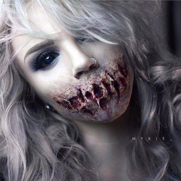 girl, halloween, horror, makeup, scary, youtube-glam&gore ...