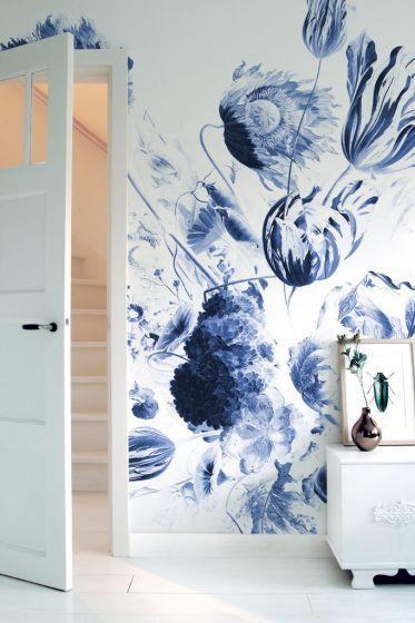 Fotobehang Royal Blue Flowers, KEK Amsterdam, oude meesters, Rijksmuseum, bloeme...