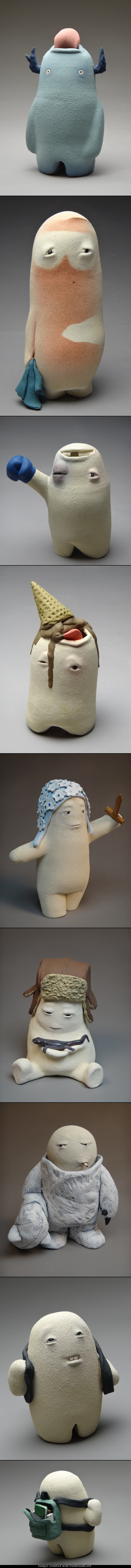 Sculpting by Katherine Moraller - Sweet Little Monsters, they are sweet not sure they are monsters! :-)