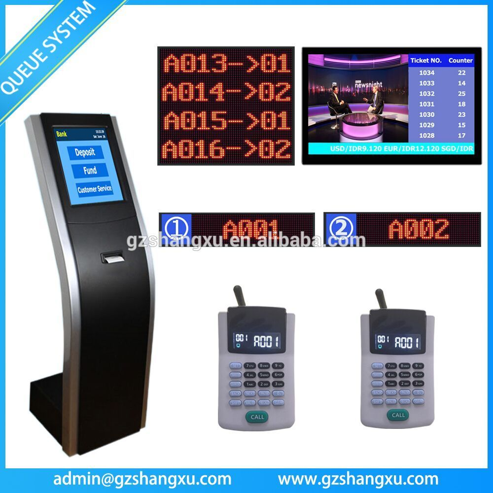 Banking customer service center wireless queuing
