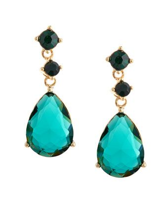 Double-Drop Crystal Earrings, Green by Fragments at Neiman Marcus Last Call.