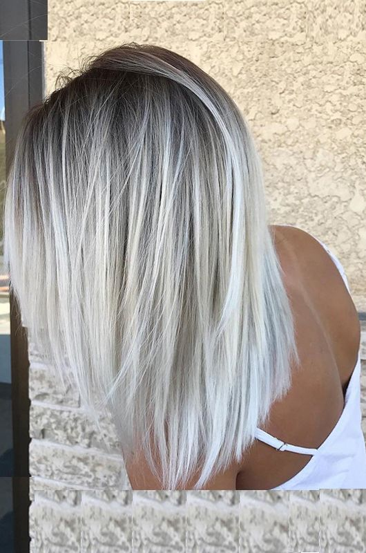 Trendy Silver Colored Hairstyles For Attractive Look In