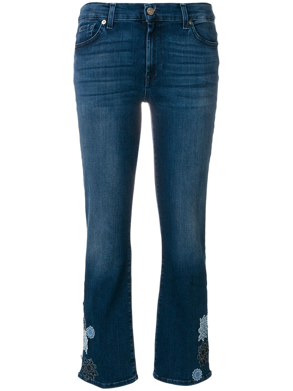 Cheap Sale For Cheap Clearance Footlocker Pictures 7 For All Mankind flower patch cropped jeans Low Price Fee Shipping Sale Online paykCz6W