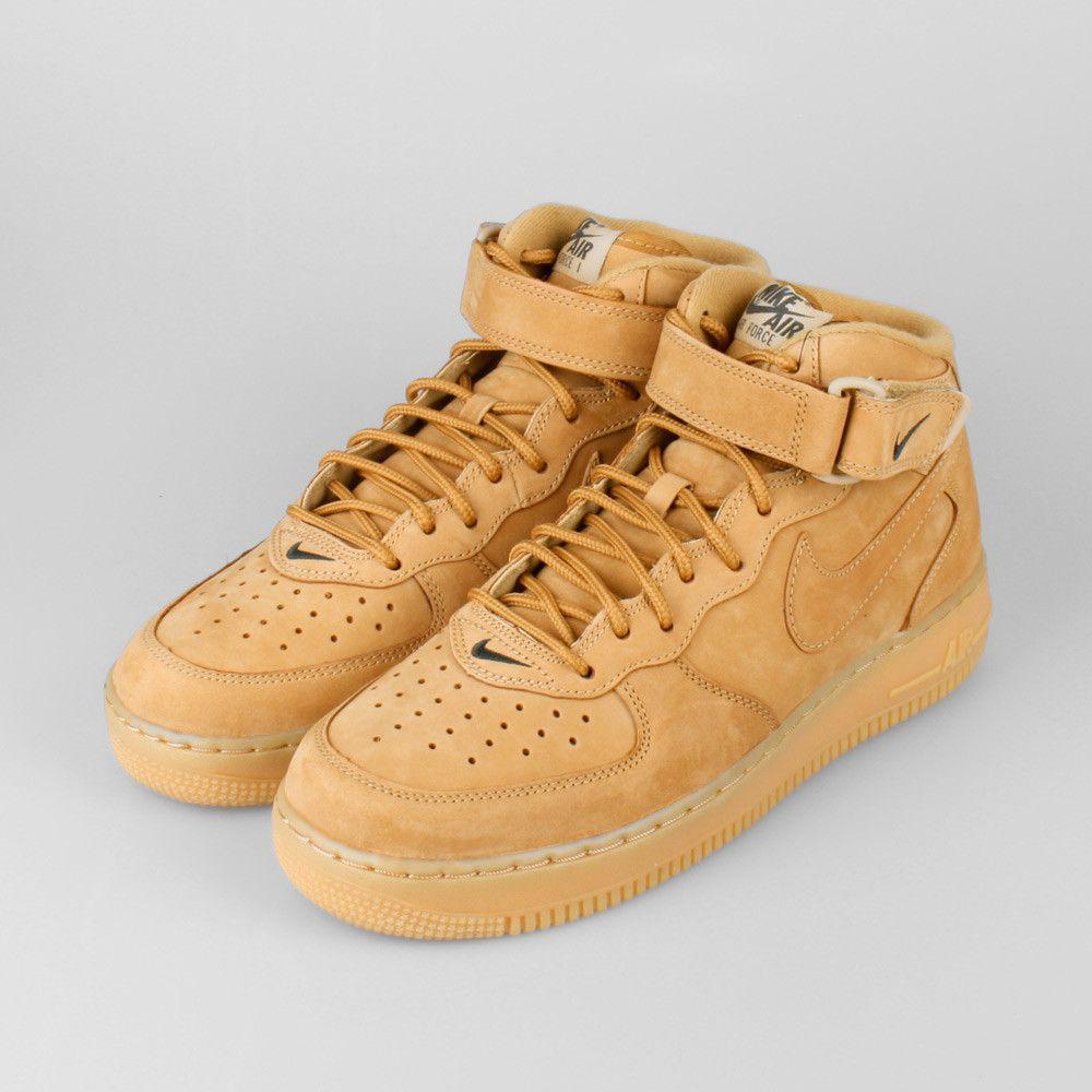 Hommes Nike Air Force 1 Khaki Vente Milieu Des Formateurs fourniture en ligne vue rabais Livraison gratuite eastbay geniue stockiste h0C6fW