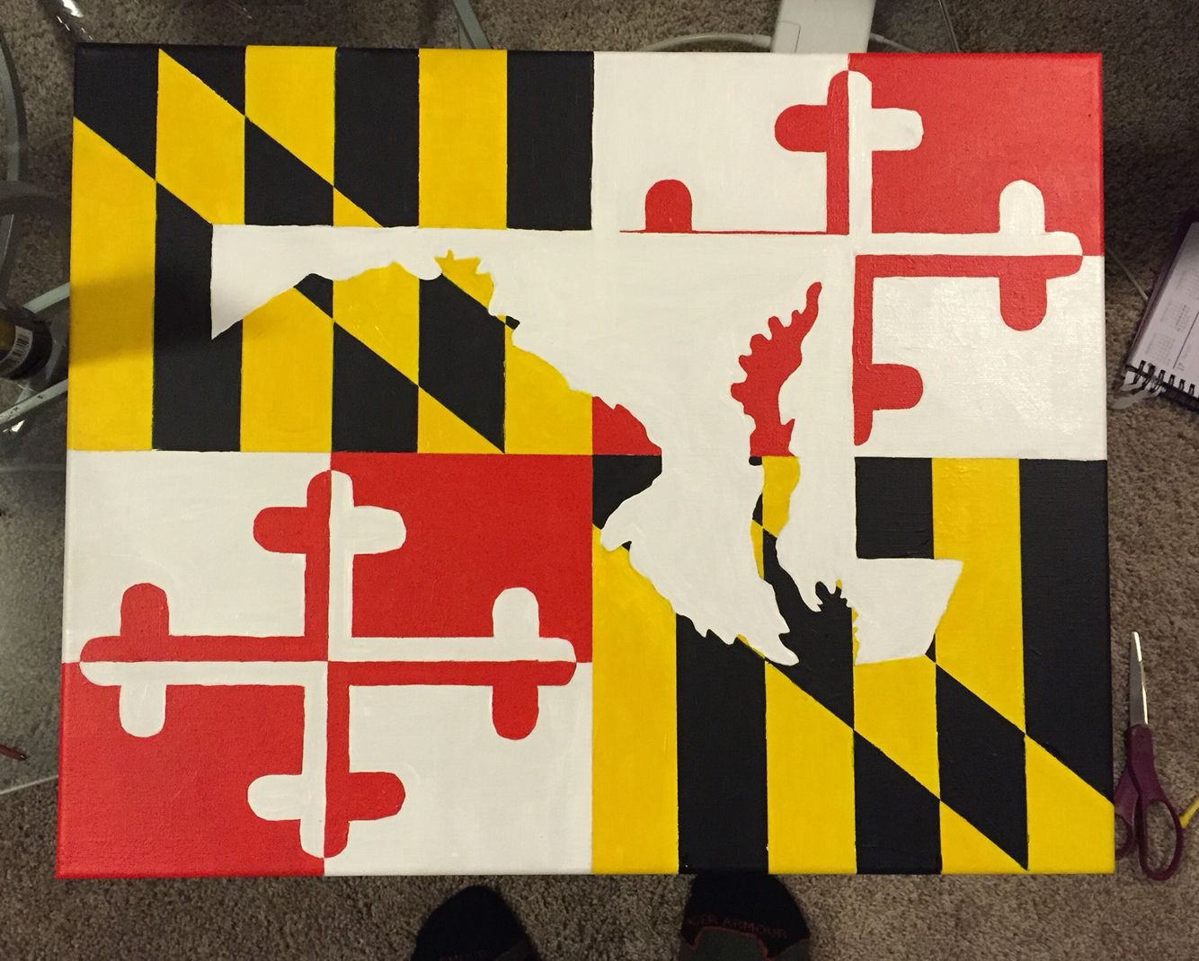 Maryland Flag With State Outline Maryland Flag Flag State Flags