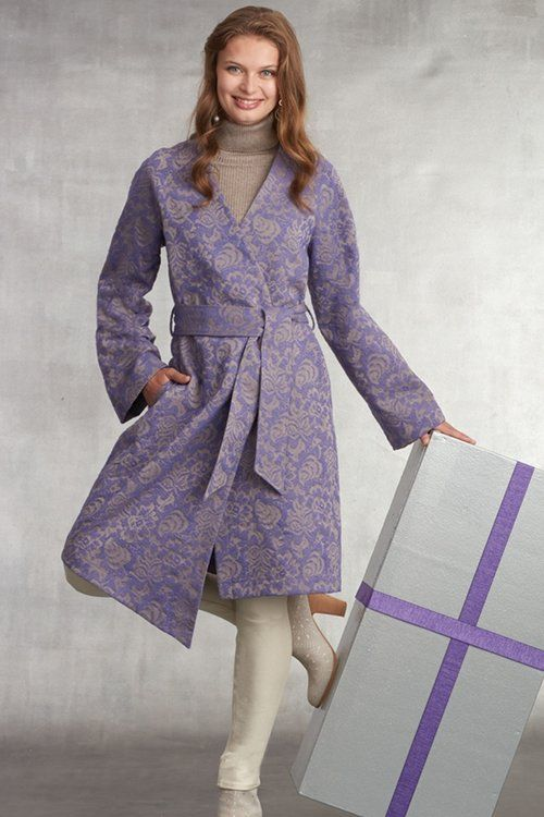 fb1f2f06ce8 Simplicity 8798 is a chic unlined coat with tie belt - very stylish!