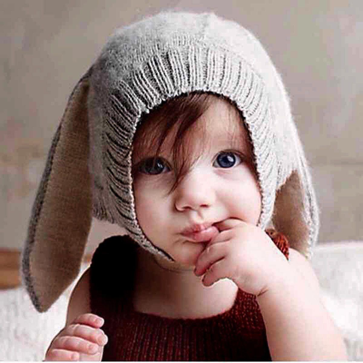 a12549efc42  2.59 - Infant Cute Rabbit Bunny Ear Hat Soft Crochet Baby Rabbit Hat  Bonnet Props Warm  ebay  Fashion