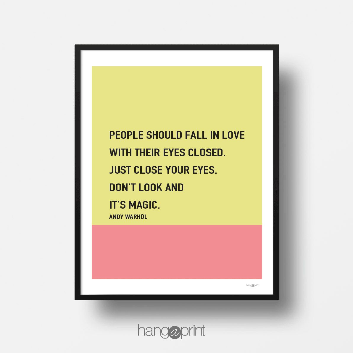 People should fall (...) Andy Warhol | printable-art-poster ...
