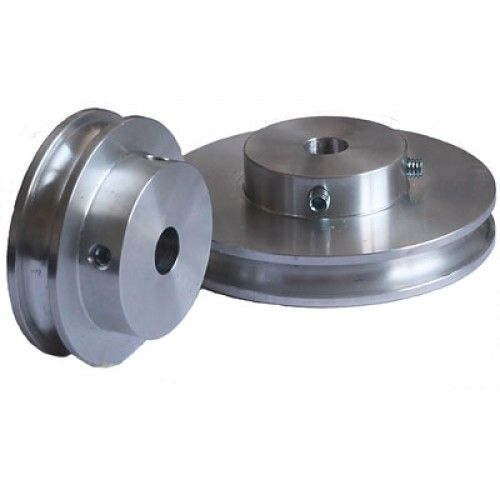 Grooved Pulley 80mm Dia For 6mm Round Belt Pulley Belt Groove
