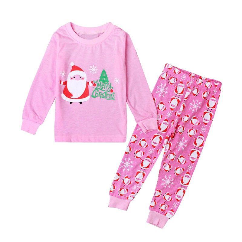 1835740ecd 2pcs Winter Baby Girl Long Sleeve Christmas Santa Claus Home Sleepwear  Toddler Nightwear Set  Affiliate
