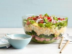 7 layer salad-This is different from the 7 Layer Salad I'm used to, but it looks yummy!