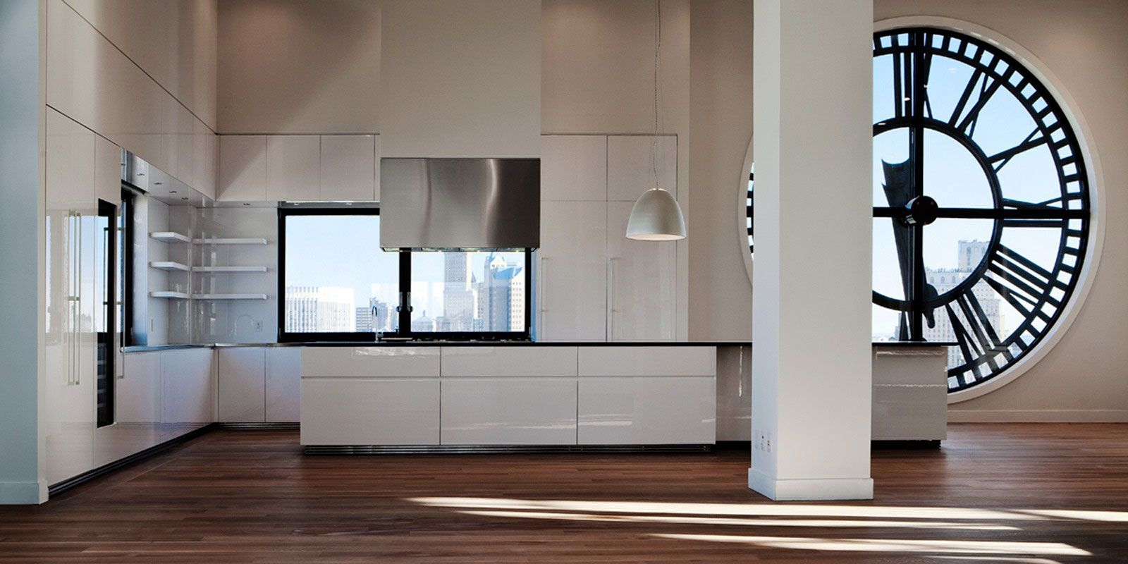 Kitchen In A Clock Tower Apartment By Minimal New York City